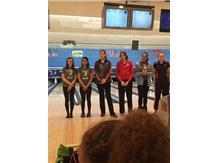 Morgan (1st), Katrina (2nd), and Kiara (5th) qualify for Sectionals