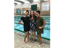 Our 2018 Team Captains. Taylor Jones, Olivia McQuillan, and Ananda Raya
