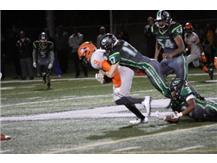 Senior Dylan Kulovitz gets a big tackle!