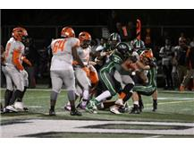 A herd of mustangs take down the ball carrier!!!