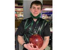 Matthew Summers (Jr), 3rd year on team, 202 ave., high game 268, high series 696. 2020 Varsity Mustang Award