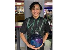 Vincent Colon (Soph), 2nd year on team, high game - 258, high series - 704