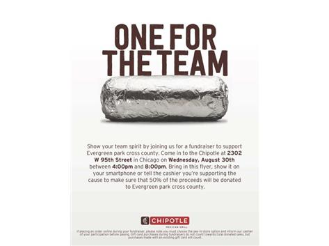 Wednesday, August 30th give yourself a break & grab Chipolte for dinner & help support the EPCHS Cross Country Team!