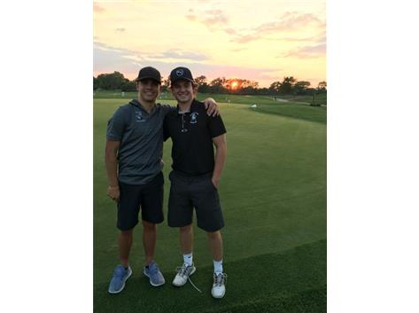 Tommy and Dec are chilling at sunset after a victory!