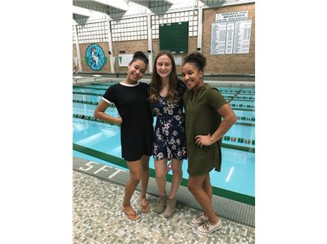 Our 2018 Team Captains. Taylor Jones, Olivia McQuillan, and Ananda Raya