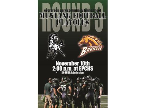 The Mustangs take on Montini @ home!  Saturday 11/10-18 @ 2pm