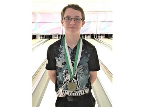 Connor Pula, 1st place Individual 2018 Oak Lawn Invite, 1468 series, high game 297