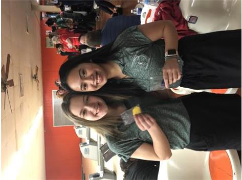 L-R: Morgan Markowicz (4th Place), Katrina DelRosario (1st Place)