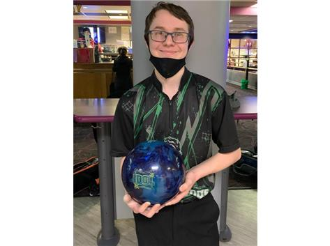 Connor Pula (Jr), 3rd year Varsity starter, Varsity Captain, Team MVP, 224 ave, high game - 300, high series 836, All Conference