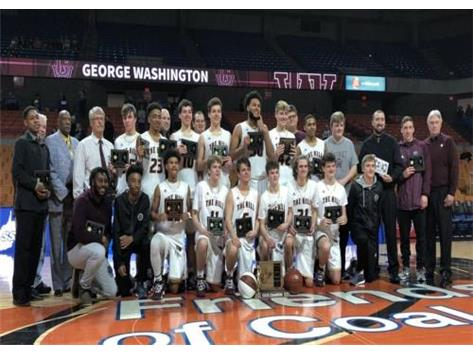 ON SATURDAY MARCH 17 THE GWHS BOYS BASKETBALL TEAM DEFEATED THE MARTINSBURG BULLDOGS FOR THE AAA STATE CHAMPIONSHIP.