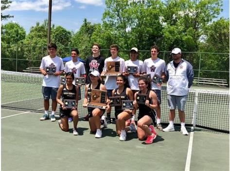 The Boys Patriot Tennis Team captured the 2018 State Title on Saturday May 12. This is the teams 19th Team Title.