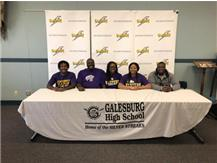 """Congrats to Daija Range.  She will continue her academic/athletic career at Western Illinois University.  Here are some of her accomplishments at Galesburg HS: High Honor Roll, 2018 Academic All-Conference Volleyball, Spanish National Honor Society 2017 IHSA 3A State Meet Shot Put Qualifier, 2018 Western Big Six shot put champion 2018 IHSA 2A Sectional shot put champion--40'1"""" Personal Record, 2018 IHSA 2A State Meet 7th place shot put"""