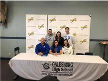 Congrats to Andrea Sampson. She will continue her academic/athletic career at Eastern Illinois University.  Here are some of her accomplishments at Galesburg HS:  State, Conference and High School Recognitions/Notable Accomplishments: All-State-1st Team All-State 2018-Junior Year; Western Big Six-All-Conference 2018 *Lead WB6 in HR*- Junior Year; Western Big SixAll-Conference 2017-Sophmore Year; GHS Softball- 4 Year Starting Shortstop; GHS Basketball -4 Year Varsity, 3 Year Starter and 2 Year Captain    Single Season GHS Records Held: Batting Average Season - .496- Andrea Sampson-JR; Most Hits Season 56- Andrea Sampson-JR Total Bases Season-101- Andrea Sampson-JR; Homeruns Season-8- Andrea Sampson-JR; Slugging Season-.894 - Andrea Sampson-JR; On-Base Season-.533 - Andrea Sampson-JR Runs Scored Season- 38- Andrea Sampson-JR