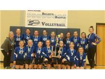6th Grade VB wins Pontiac SM Tournament