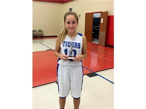 Claire Hennessy earned All-tournament team at the Bourbonnais St. Paul's Shootout.