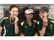 Hannah Levy-3rd place, Ashley Suh-2nd place & Emily Christopher-10th place in the GBS JV Invite