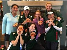 Why are these golfers smiling? Because they just captured their First ever conference championship