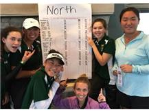Alexandra Michalak, Meghan Cruz, Ashley Suh, Emily Christopher, Hannah Levy & Leah Won are conference champions!