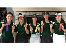 JV Spartan golfers are back to back conference champs! Hannah Levy 2nd-82 Emily Christopher 4th-88 Julia Velasquez 6th-93 Grace Goodwin 11th-100 Kathryn Cruz-101 Lexi Bakis-105(not pictured)