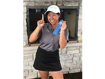 What a day!  Conference Champ & my 1st hole-in-one!  Kathryn's hole-in-one on the 124 yd 7th hole where the pin was tightly tucked behind 2 sand traps! WOW!