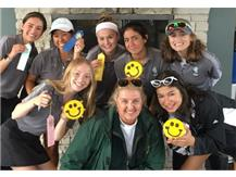 JV golfers show off their ribbons & smiley face cookies! Congrats & well done!