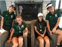 Hannah Oh-58 Nelly Lochnicki-9th-55, Kaitlin Oh-3rd -46 & Alivia So-60.