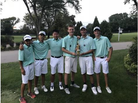 2018 Hersey Invite.  3rd place finish out of 13 teams with a 308 total.