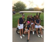The girls take 2nd place @ the Hersey Invite. Effie Perakis sets the tournament record by shooting a 63 (-5).