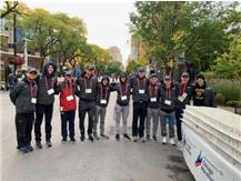 """Several GBS Runners helped at Aid Station 10 at the Chicago Marathon.  Thanks """"Coach Chuck"""" for organizing this annual event for our team!"""