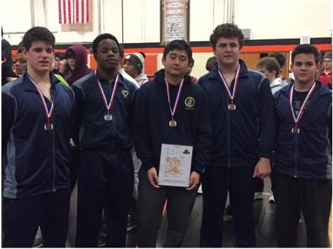 The JV places 4th at the Libertyville JV Invite