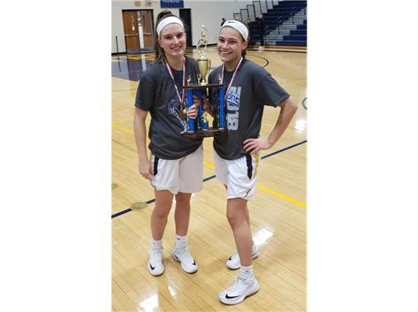 Libby Vanderveen and Makayla Stadler named to the All-Tourney Team at Wheaton North!