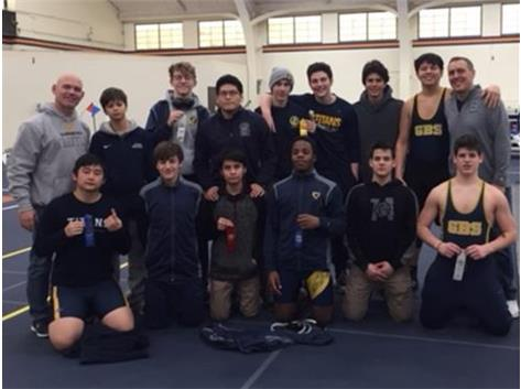 The JV had nine placers at the CSL Conference Tournament