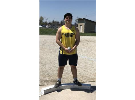 Dimitri throws 57-4 to set a new varsity school record!