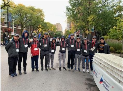 "Several GBS Runners helped at Aid Station 10 at the Chicago Marathon.  Thanks ""Coach Chuck"" for organizing this annual event for our team!"