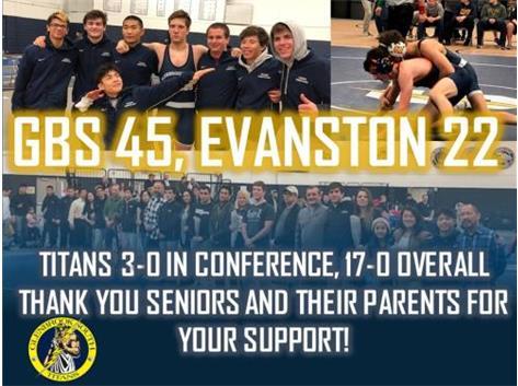 Titans defeat Evanston 45-22