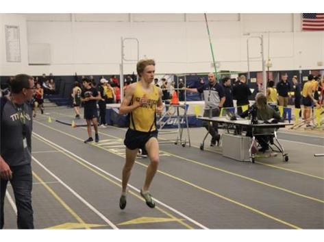 Congratulations, Will!  New Indoor School Record for the 1600 Meter Run!