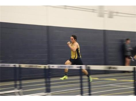 Nathan sets a new Sophomore School Record in the 55 Meter Low Hurdles!