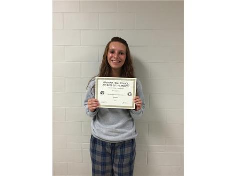 Congratulations to Molly Hamilton- 