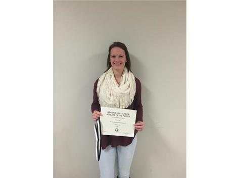 Congratulations to Emma Pauly- December student athlete of the month