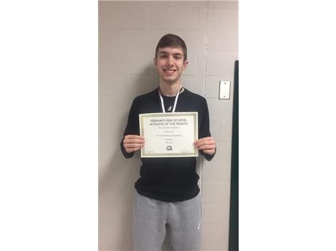 Congratulations to Andrew Ford- February Student Athlete of the Month!!
