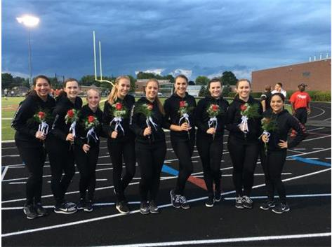 Grant Dance Team Seniors 2016 at Senior Night and the first football game!