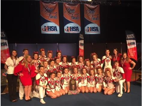 Congratulations to the Grant Cheer Squad for their 2nd Place finish at the IHSA State Championships.