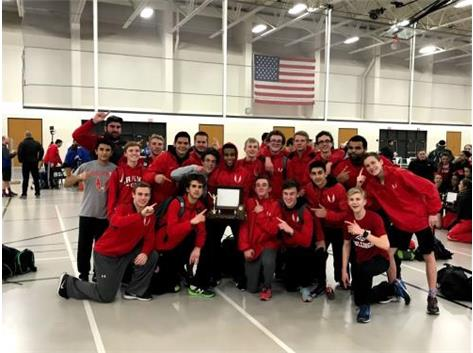 The boys win the 2018 NLCC Indoor Championship