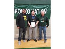 Sr. Joey Petrucci 1st Pl 285 lbs  w/Coaches Castillo and McNally