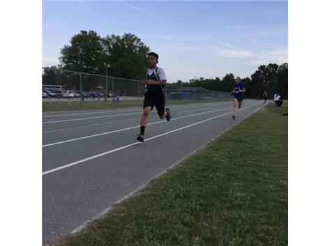 Ethan Horton runs the mile against Culbreth