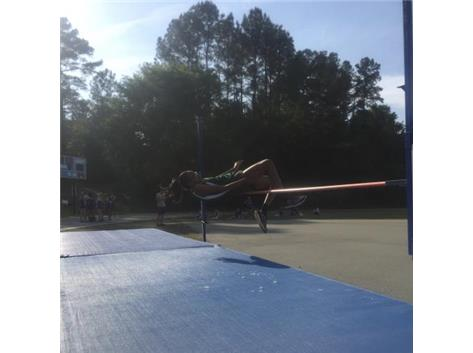 Ashari Lyons in the high jump.