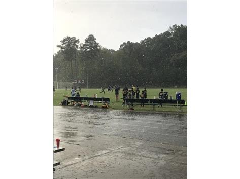 Boys did well in deluge vs. Culbreth. Look at those rain drops!