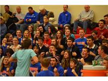Ramtourage Roller Coaster at Cedarville Boys Basketball Game Winter 2013