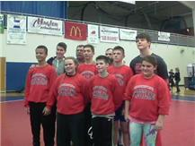 MS Wrestling team with Emma Randall ( Former Ram and Currently Asst Women's Olympic Wrestling Coach )
