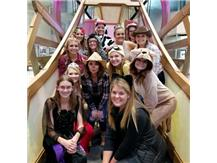 Volleyball at Dayton Children's Hospital on trick or treat night !
